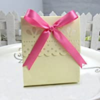 Ivory Scalloped Favor Boxes-(10 Pcs)
