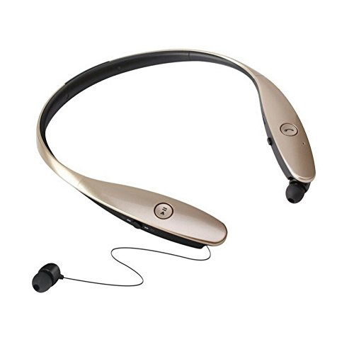 Click to buy Bluetooth Headphones Headset Wireless Bluetooth 4.0+APTX Sport Stereo Universal Headset Headphone for Iphone iPad Samsung LG (Gold) - From only $1441.1