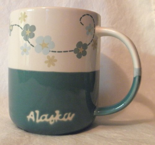 Alaska Blue Flower And Butterfly Coffee Mug (12 Oz.)
