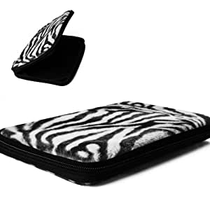 Hard Shell Snug Fit Animal Print Fur-like Google Nexus 7 Tablet Carrying Case Cover with Google Play ( Classic Zebra )