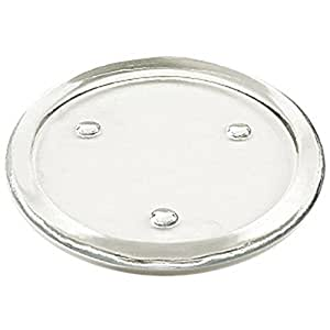 Flat glass candle holder 6 inch home kitchen for Flat candle holders