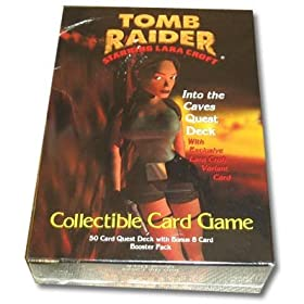 Tomb Raider Starring Lara Croft Into The Caves Quest Deck with Exclusive Lara Croft Variant Card