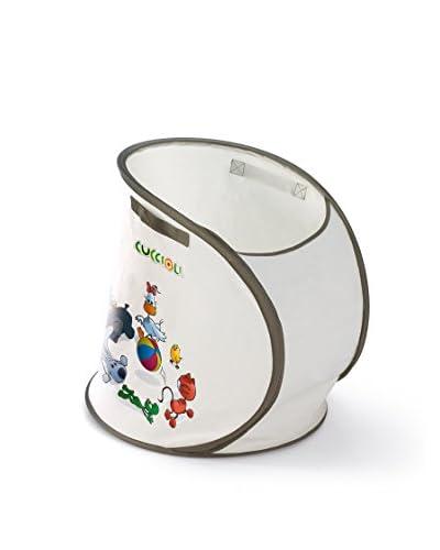 La Piacentina Portagiochi cotone Cuccioli Cm 45Xh45 bianco