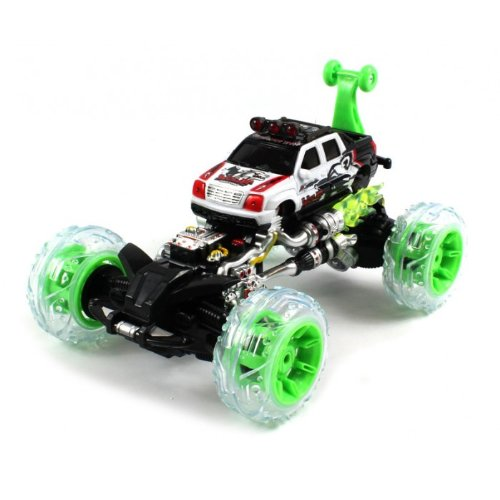 Electric Full Function Cadillac EXT 360° Stunt Rolling Monster RTR RC Truck w/ Light Up Wheels Remote Control