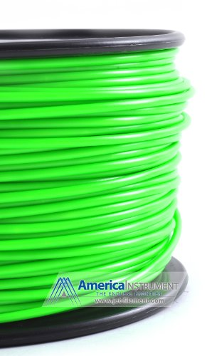 Jet - PLA (3mm, Green color, 1.0kg =2.204lbs) Filament on Spool for 3D Printer MakerBot RepRap MakerGear Ultimaker & Up!