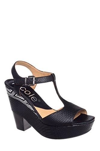 Gerry Platform High Heel T-Strap Sandal