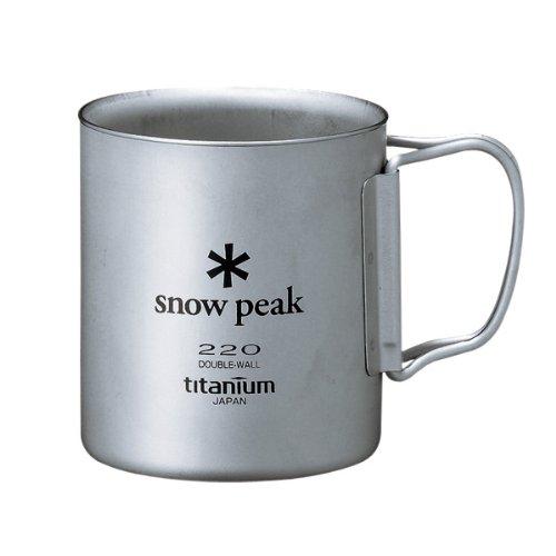スノーピーク(snow peak) チタンダブルマグ 220ml フォールディングハンドル MG-051FHR