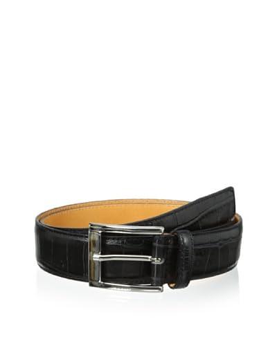 Leone Braconi Men's Crocodrillo Stampato Embossed Belt