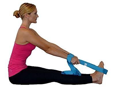 Limber Stretch Flexibility Stretch Strap mit Schlaufen fuer Training und Heilung. Yoga Strap und Fitnessband. Anleitungsposter und Stretching eBook KOSTENLOS dazu
