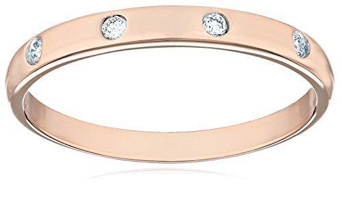 10k Rose Gold Diamond Band (0.05 cttw, I-J Color, I2-I3 Clarity), Size 7