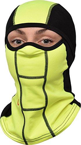 passamontagna da geartop, Miglior Full Face Mask, Maschera da sci e scaldacollo Premium per moto e ciclismo, Green/Black