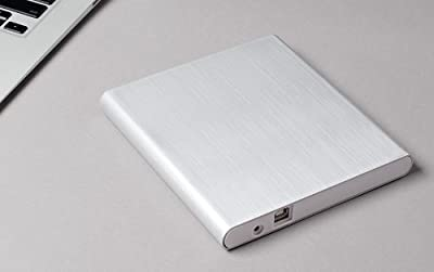 Aluminum External USB DVD+RW,-RW Super Drive for Apple--MacBook Air, Pro, iMac, Mini