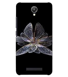 PrintVisa Butterfly Design 3D Hard Polycarbonate Designer Back Case Cover for Xiaomi Redmi Note 2