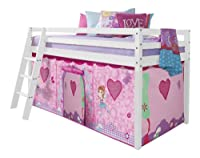 Cabin Bed with Fairies Tent in White with Tent 578WG-FAIRIES