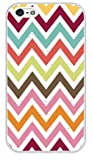 Colorful Zig Zag Best Rubber Cell Phone Case Cover for iPhone 4, iPhone 4S - White