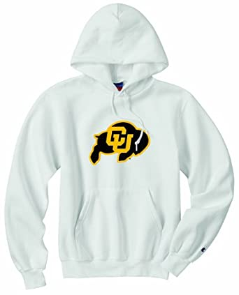 Champion NCAA Unisex Adult Colorado Golden Buffaloes Powerblend Hood (White, Small) by Champion