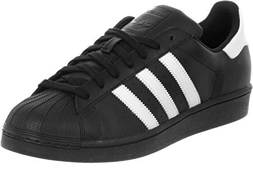 adidas Superstar Foundation, Herren Sneakers, Schwarz (Core Black/Ftwr White/Core Black), 43 1/3 EU (9 Herren UK)