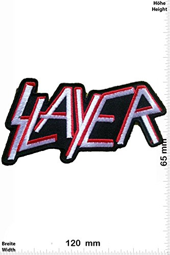 Patch - Slayer - MusicPatch - Rock - Chaleco - toppa - applicazione - Ricamato termo-adesivo - Give Away