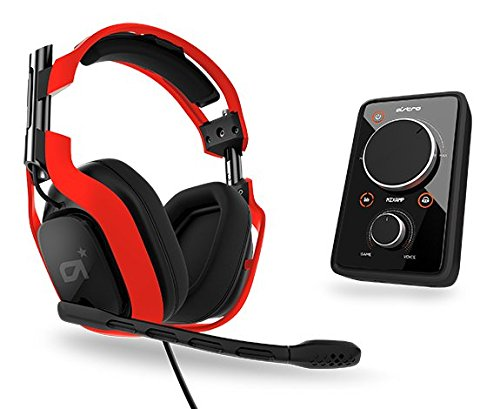 Astro Gaming A40 Audio System - Neon Color Series Edition - Red W/ Mixamp Pro