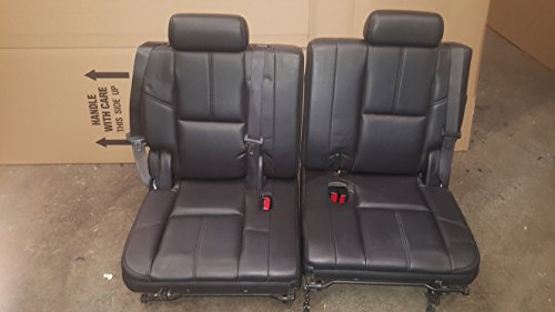 Click to buy 07 08 09 10 11 12 13 ESCALADE YUKON TAHOE SPLIT BLACK 3RD THIRD ROW SEAT REAR SEATS - From only $799.99