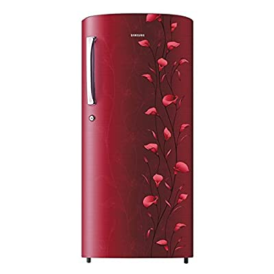 Samsung RR19K173ZRZ Direct-cool Single-door Refrigerator (192 Ltrs, 5 Star Rating, Tender Lilly Red)