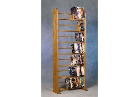 Wood Shed Solid Oak 7 Row Dowel DVD/VHS Rack Clear (Wood Dowel Rack compare prices)
