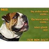 "Metall - Warnschild Englische Bulldogge, English, British Bulldogvon ""Das Tierportr�t"""