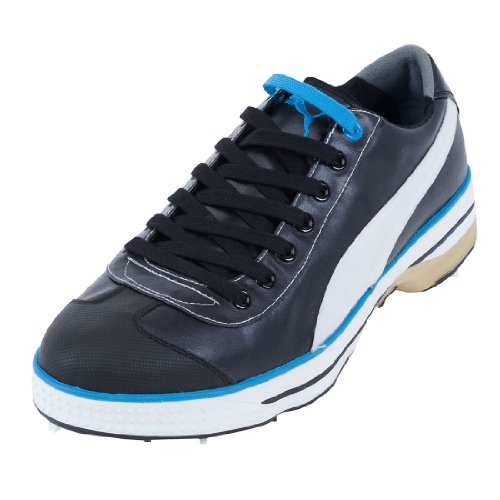 Puma Club 917 Golf Shoes Black/White/Vivid Blue 8