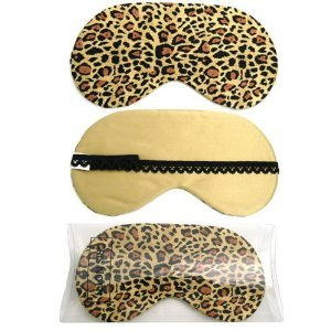 Cris Notti Golden Leopard Sleep Mask