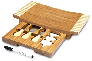 Picnic Time Concavo Bamboo Board and Cheese Tool Set