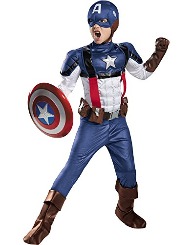 Disguise Marvel Captain America The Winter Soldier Movie 2 Retro Costume