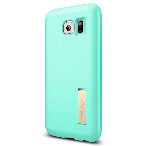 Custodia Galaxy S6, Spigen [Capsule Solid] Anti-scivolo [Mint] **Forma Morbido Kick Stand, Cover Samsung Galaxy S6, Cover Galaxy S6 (SGP11438)