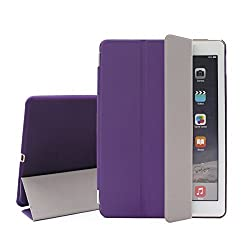 Hi-Eshop General Smart Magnetic Folding Case Cover For iPad Air 2(Purple)
