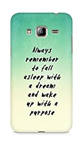 AMEZ always remember to fall asleep with a dream Back Cover For Samsung Galaxy J3 (2016 EDITION)