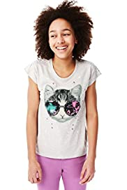 Limited Pure Cotton Cat Print Top