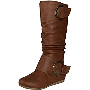 Womens Top Moda Bank-85 Knee-High Round Toe Slouch Boot