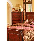 Solid Wood Fully Assembled Chest , Cherry Finish