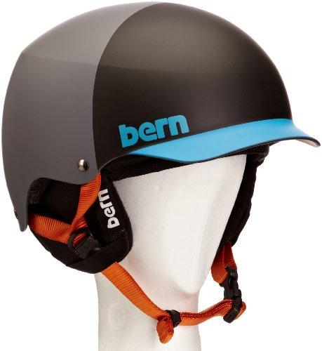 BERN BAKER Helm 2014 matte grey/blue hatstyle, L