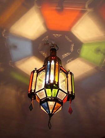plafonnier lanterne lustre marocain fer forg verre luminaires et eclairage. Black Bedroom Furniture Sets. Home Design Ideas
