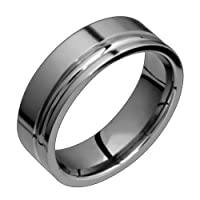 Precis Classic Titanium Band with Two Grooves