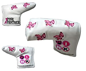 Pink Panther white Pin Putter head cover (magnet type) [Japan]