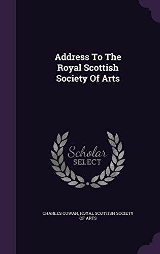 Address To The Royal Scottish Society Of Arts