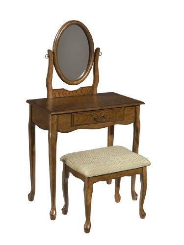 Oak Bedroom Vanity front-1076121