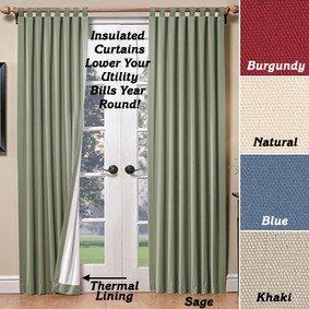 Acrylic Suede Tab Top Curtains Burgundy 160 W X 84 L