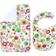 Thirty-One Bib & Burp Cloth Set In Apple Blosssom front-1065398