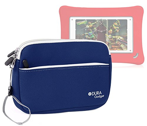 DURAGADGET Blue Water Resistant Neoprene Zip Carry Case With Front Pocket For The New Fuhu Nabi DreamTab HD8, Fuhu DreamTab HD8, Fuhu Nabi & Nabi 2 Kid's Tablet (Fuhu Nabi 2 Accessories compare prices)