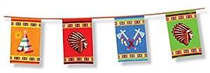 Indianer Banner Girlande Wimpel groß 6m