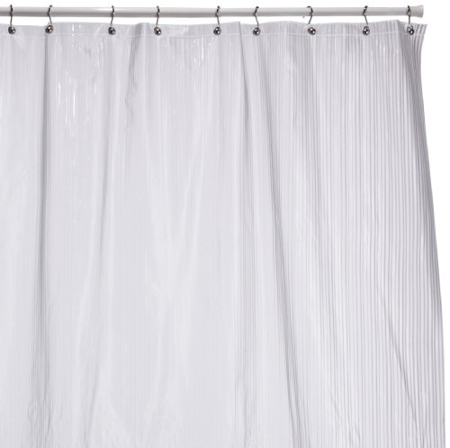 interdesign zia shower curtain clear