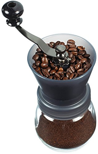 GROSCHE Bremen Adjustable Ceramic Conical Burr Manual Coffee Grinder (Black)