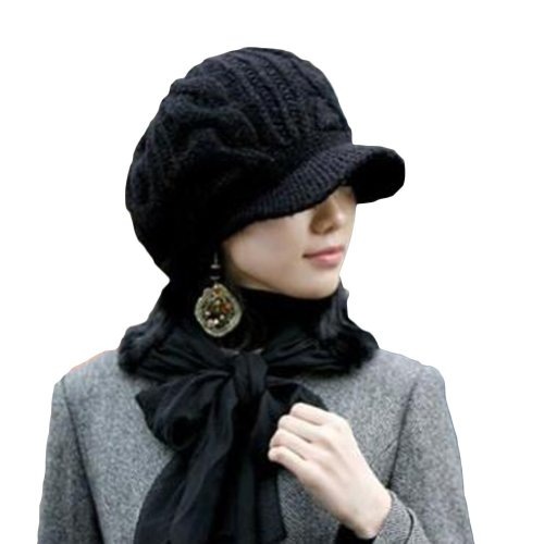 Women Girl Slouchy Knit Beanie Winter Newsboy